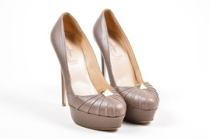 Valentino Ruched Taupe Pumps