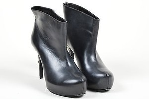 Ruthie Davis Leather Black Boots