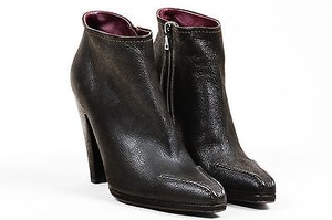 Prada Dark Cone Heel Brown Boots