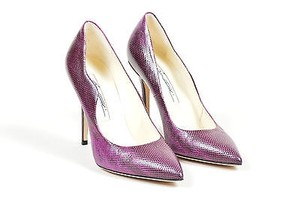 Brian Atwood Lizard Purple Pumps