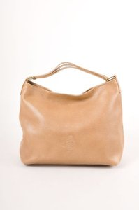 Mark Cross Tan Textured Leather Handbag Hobo Bag