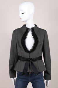 Valentino Mohair Trim Ribbon Jacket