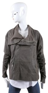 Rick Owens Dark Dropped Relaxed Fit Moto Leather Motorcycle Jacket
