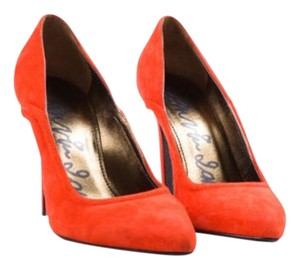 Lanvin Suede Pointed Toe Red Pumps