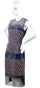 Other Roksanda Blue Yellow Coral Woven Plastic Mesh Valetta Dress