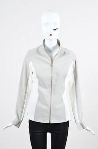 St. John And Cream Stretch Taupe Jacket