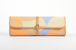 Louis Vuitton Tan Blue Orange Multi-Color Clutch