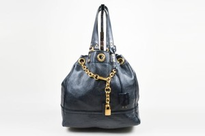 Saint Laurent Yves Navy Tote in Blue