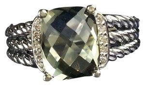 David Yurman David Yurman Petite Wheaton Ring- Prasiolite with pave Diamonds