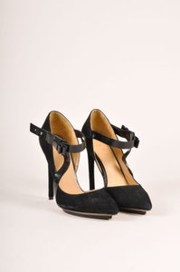 L.A.M.B. Suede Bow Black Pumps