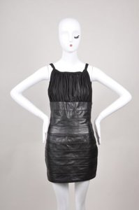 Dsquared2 Silk Leather Dress