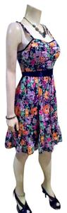 Candie's short dress Purple, Navy, Orange, Pink, P725 Summer Size Medium on Tradesy