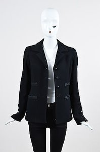 Oscar de la Renta Wool Black Jacket