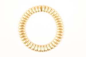 Ciner Gold Tone Chain Chunky Link Embellished Choker Necklace