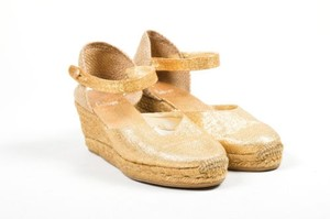 Castañer Castaner Tone Canvas Gold Platforms