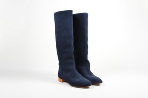 Chloé Chloe Navy Suede Leather Blue Boots