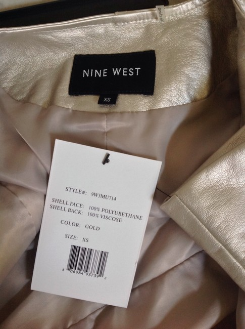 Nine West Metallic Gold Jacket