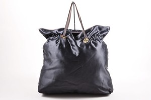 Lanvin Navy Satin Tote in Blue