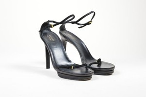 Gucci Suede Leather Black Sandals