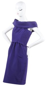 Oscar de la Renta Purple Off Dress