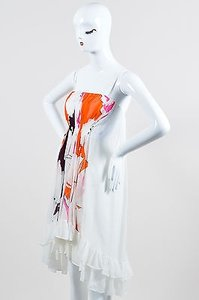 Diane von Furstenberg short dress Multi-Color White on Tradesy