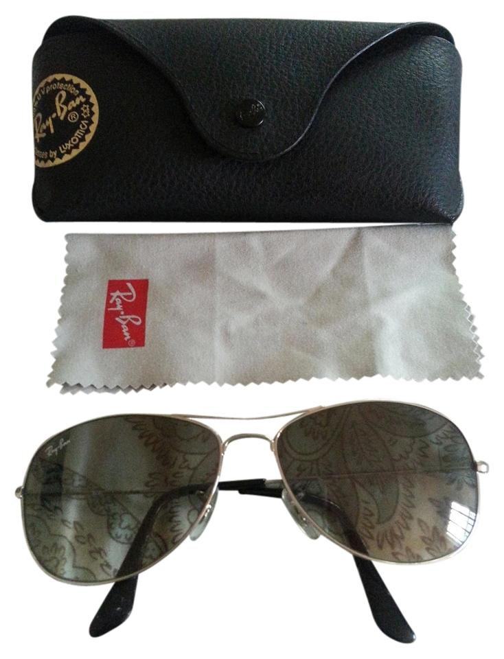 2db453a8a7 Ray-Ban Silver Metal Frame Crystal Gray Gradient Lens Cockpit (Smaller  Aviators) Rb3362 003 32-silver With Sunglasses