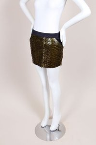 Roseanna Green Navy Fish Mini Skirt