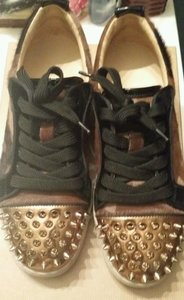 Christian Louboutin Spike Gold Brown Camo Athletic
