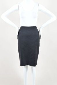 Hermès Hermes Wool Buttoned Skirt Black