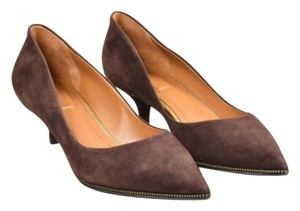 Givenchy Suede Zipper Brown Pumps