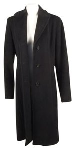 Calvin Klein Black Long Wool Coat