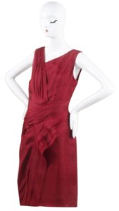 J. Mendel Silk Pleated Dress