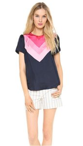Band of Outsiders Top navy pink