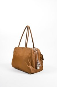Prada Nylon Pouch Satchel in Brown