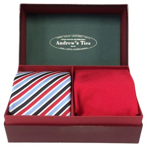Andrew's Ties ANDREW'S TIES LIMITED BOX SET OF 2 TIES CUSTOM DESIGNED FOR NICHE MEDIA