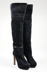 Max Mara Suede Over The Black Boots