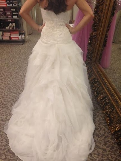 Pronovias Off White Dorado Formal Wedding Dress Size 14 (L)