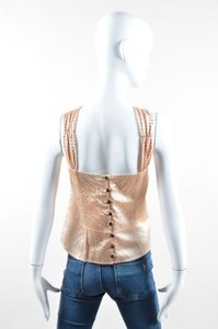 Marc Jacobs Gold Silk Top Pink