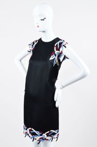 Christopher Kane short dress Black Multicolor Satin Sleeveless Shift on Tradesy
