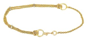 Paloma Picasso Paloma Picasso Gold Tone Chain Knot Belt