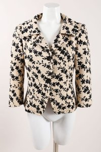 Max Mara Tan Black Floral Jacket