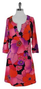 Tracy Negoshian short dress Pink Floral Long Sleeve on Tradesy