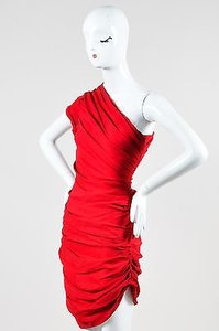 Halston Heritage Ruby Silk One Mini Cocktail Dress