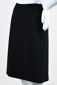 Chanel 02a Wool Pencil Skirt Black