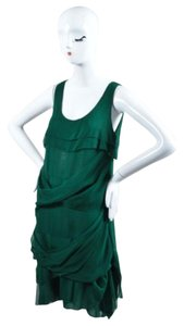 Peter Som Emerald Silk Dress