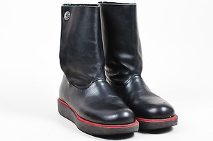 Jil Sander Navy Leather Black Boots