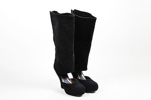 Marni Suede Cut Out Black Boots