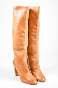 Pierre Hardy Tan Leather Brown Boots