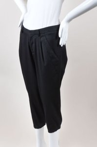Helmut Lang Wool Capri/Cropped Pants Black