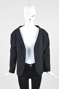 Prada Prada Black Three Quarter Sleeve V Cut Out Blazer